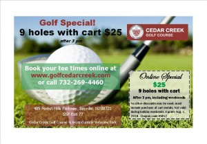 Cedar Creek golf, Retail Me Not coupon2
