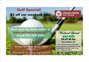 Cedar Creek golf, Retail Me Not coupon3