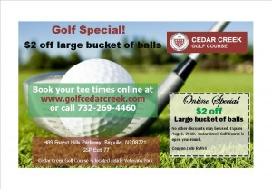 Cedar Creek golf, Retail Me Not coupon4